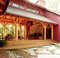 Big Timberframe Dogtrot - Platt Architecture, PA Platt Architecture, PA