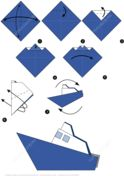 How to Make an Origami Boat Step by Step Instructions Paper craft