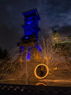 https://flic.kr/p/zZXfx6 | Fire spinning at coking plant | Lightpainting in a single exposure - no layers - no photoshop -only light and fireworks - with OM-D E-M5 OLYMPUS DIGITAL CAMERA © 2015 by www.potamilux.de