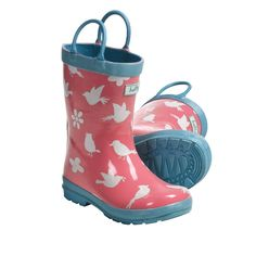 New Hatley Girls Rain Boots Spring Song Toddlers Kids
