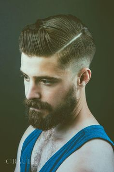 brown beard and mustache beards bearded man men bearding classic mens' hairstyles hair cut hairy retro barber Side Part Hairstyles, Cool Hairstyles, Pinterest Hairstyles, Hairstyles 2018, Medium Hairstyles, Celebrity Hairstyles, Hard Part Haircut, Sexy Bart, Classic Mens Hairstyles