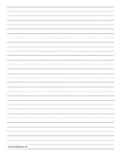 Children learning to print or write cursive can use this dashed paper in school or at home to practice penmanship. It is letter-sized and ha. Handwriting Sheets, Improve Your Handwriting, Improve Handwriting, Handwriting Analysis, Cursive Handwriting, Kids Writing, Writing Paper, Penmanship Practice, Printing Practice