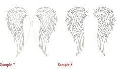 How to draw - How to Draw Angel Wings ~I think this is the shape I want for my wall!~
