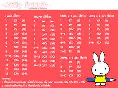 """Crochet Amigurumi Miffy - Tutorial"" #Amigurumi  #crochet"