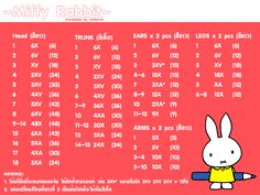Amigurumi Miffy - Free Crochet Pattern / Tutorial