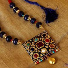 Quartz, Turquoise, Pearl & Bamboo Coral with Jadau Pendant.