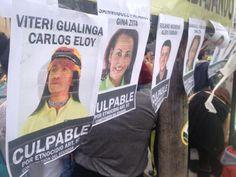 Galería de culpables. Apoyaron y votaron por la explotación del Yasuní ITT. Foto: #Yasunidos