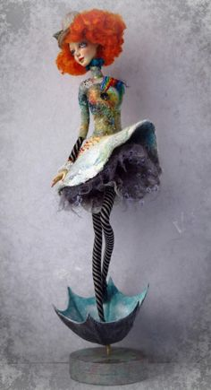 Art doll Body pose - hair - umbrella base