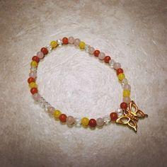 Butterfly Charm Bracelet on Etsy, $14.00