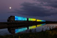 This Glowing Train Is Bringing Art, Music, and Yurts to Middle America