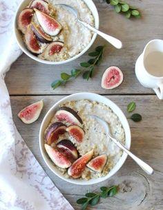 Millet Porridge with Fresh Fig & Hemp Seed | Inspired Edibles