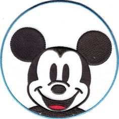 I Love FL Florida Mickey Mouse Ears Embroidered Large Iron-On Patch Disney World