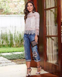 WEBSTA @ lalanoleto - Jeans glamouroso   top @ton_age ! In Love com a minha seleção de looks da marca que agora tem loja virtual www.tonage.com.br #tonagelovers