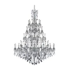 "Elegant Lighting 9260G72PW/SA Rosalia Collection Foyer/Hallway Large Hanging Fixture D72"" x H96"" x L60 Pewter Finish (Swarovski Spectra Crystals). The Rosalia Collection is a stunning and decadent exa"