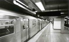 NYC Subway in motion - 2001
