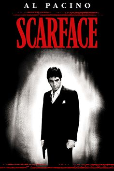 Scarface: Platinum Edition on DVD from Universal. Directed by Brian De Palma. Staring Al Pacino, Michelle Pfeiffer, Miriam Colon and Richard Belzer. More Action, Drama and Drugs & Dealers DVDs available @ DVD Empire. Scarface Film, Scarface Poster, Al Pacino, Love Movie, Movie Tv, Movies Showing, Movies And Tv Shows, Movie Posters, Actresses