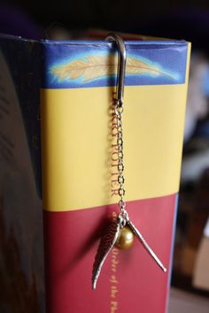 Harry Potter Hogwarts Quidditch Golden Snitch Bookmark on Etsy, $10.00