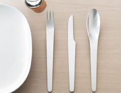Georg Jensen Stainless Steel 5-Piece Place Setting designed by Arne Jacobsen