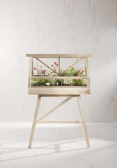 A room within a room, this fabulous greenhouse is a design object with artistic ambitions.Designed by Atelier for Design House Stockholm, this wonderful addition to the home places greenery on a pedestal. Produced from solid ash, this greenhouse is Miniature Greenhouse, Cheap Greenhouse, Indoor Greenhouse, Greenhouse Plans, Indoor Garden, Indoor Plants, Greenhouse Base, Diy Small Greenhouse, Portable Greenhouse