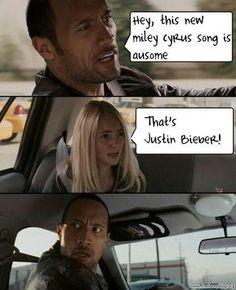 Hahaha! #funny #justinbieber #mileycyrus #therock  Find more LDS greats at: MormonFavorites.com