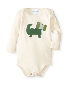 Cate & Levi Baby Organic Long Sleeve Crocodile Romper at MYHABIT