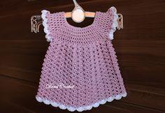 Háčkované topánočky a iné vecičky: Háčkované detské šaty Crochet Top, Baby, Tops, Women, Garden, Fashion, Craft, Moda, Garten