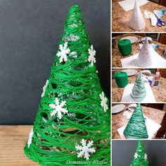 15 Christmas decor tutorials for the home - DIY and crafts - noel Handmade Christmas Decorations, Christmas Crafts For Kids, Xmas Crafts, Xmas Decorations, Christmas Projects, Christmas Diy, Diy And Crafts, Christmas Trees, Decor Crafts