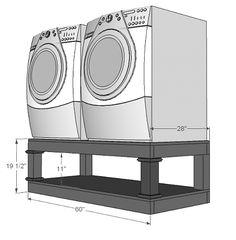 Washer/Dryer base tutorial
