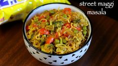 maggi noodles recipe, maggi masala noodles, maggi recipes with step by step photo/video. street style 2 minute maggi noodles for breakfast and evening snack Indian Food Recipes, Vegetarian Recipes, Cooking Recipes, Healthy Recipes, Ethnic Recipes, What's Cooking, Snack Recipes, Indian Snacks, Curry Recipes