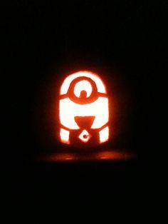 Minion Pumpkin for my baby's first Halloween