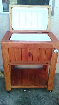 Wooden cooler stand trailer projects pinterest woodworking wooden patio cooler by diy pete do it yourself home projects from ana white solutioingenieria Images