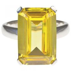 High Society Cocktail Ring in Canary Yellow $69.95