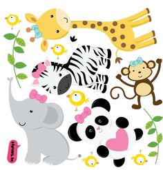 Animalitos de la selva -mercadolibre - Imagui