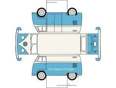 paper volkswagen van from cuteeverything.com