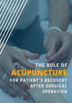 Tell your patients you can help them recover faster after surgery :) #AcupunctureWorks #Acupuncturebenefits #tcm #traditionalchinesemedicine