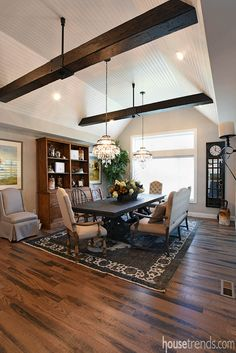 The dining room in The Pine Valley by Justin Doyle Homes at Cincinnati HOMEARAMA® 2016. #housetrends