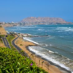 Miraflores, Miraflores, Peru - A look up the coast in Lima.