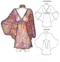 Blusas de gasa step by step sewing blouses, sewing clothes y Clothing Patterns, Dress Patterns, Sewing Patterns, Sewing Ideas, Fashion Sewing, Diy Fashion, Robe Diy, Sewing Blouses, Diy Couture