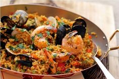 Get the recipe: Mexican Paella with Shrimp, Mussels and Chorizo from MCC Chef Rick Bayless #macys #culinarycouncil #recipe