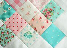 granny quilt - such a pretty combination!