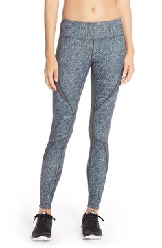 Loving these Zella leggings with geometric shapes and patterns for a fun workout vibe.