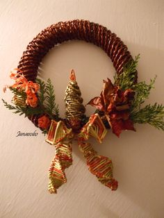 corona porta natalizia