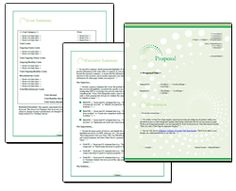 Proposal Pack Business #18 - Editable and customizable templates in this design theme with a library of sample proposals and Wizard software to get you started right away writing any kind of proposal, quote, report or other business document. Hundreds of other designs also available only from ProposalKit.com (come over, learn more and Like our Facebook page to get a 20% discount)