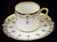 Jeweled Spode Copeland Demitasse Cup &Saucer Pre 1900.