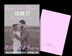 Fully customized wedding photo save the date fall 2017 2018