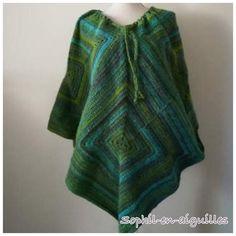 Poncho bohème laine au crochet Bonnets, Boutique, Pulls, Crochet, Creations, Blouse, Women, Fashion, Boho