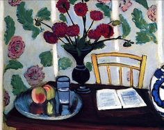 Bouquet of Dahlias and White Book, 1923 Henri Matisse
