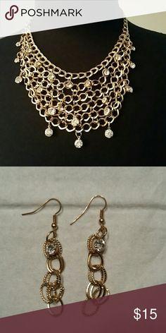I just added this listing on Poshmark: Gold Bib Chain Necklace and Earrings Set. #shopmycloset #poshmark #fashion #shopping #style #forsale #Paparazzi #Jewelry