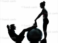 one couple man woman exercising workout aerobic fitness posture full length silhouette on studio isolated on white background     #exercise I hope this image gives you the inspiration you need to workout!  http://abstracthealth.com