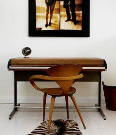Norman Cherner Pretzel Chair with... a fantastic desk. Photo by James Tse